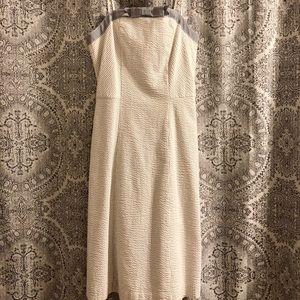 Isaac Mizrahi dress (Target line) grey/white